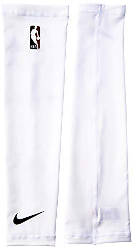 Nike Shooter Sleeves NBA Ärmel Unisex Erwachsene L Mehrfarbig (Weiß/Schwarz)