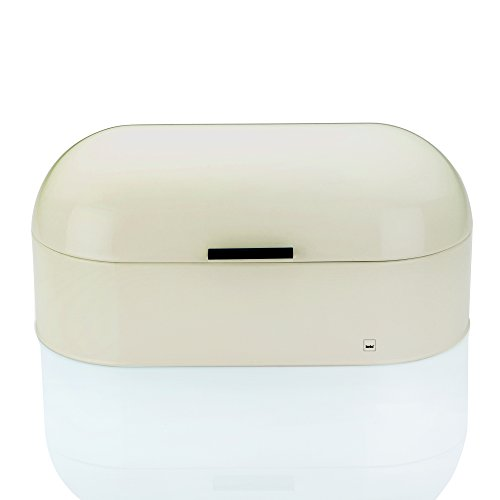 Preisvergleich Produktbild Kela 11168 Brotkasten, Glänzendes Metall, 44 x 21,5, Höhe: 22 cm, Frisco, beige