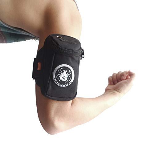 DANXQ Handy-Handgelenktasche Sport Armband-Lauf Armtasche, für iPhone 7,7 Plus, iPhone6,6 Plus, kompatibel mit den meisten Handys mit 2 Taschen (Canvas-Spider)