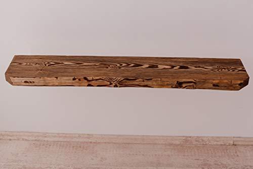 Larisa Rustikal Wandregal dunkle Eiche mit Wachs bedeckt Verschiedene Längen unbeschnittene Seite des Regals!! (120x zirka20)