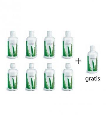 Aloe Vera Trinkkur (8+1 gratis) - Trinkgel 99,7% reines, unverdünntes Aloe Vera Frischpflanzen-Gel aus biologischem Anbau