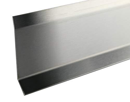 2,5 METER - Höhe: 80 mm FUCHS Sockelleiste Edelstahl V2A Gebürstet