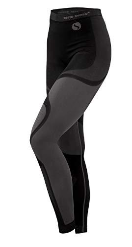 Sesto Senso® Donna Intimo Termico Pantaloni Lunghi Funzionale Sottopantaloni Leggings Biancheria Intima Termoattivo (M, Grigio)