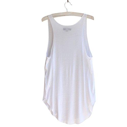 TININNA signore delle donne estate casual Athletic Senza Maniche Vest Canotte T-shirt Camicetta Rosa Bianco