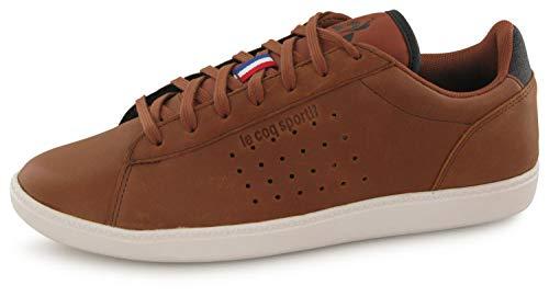 Le Coq Sportif COURTSTAR Winter Leather Cinnamon, Baskets Hommes, Marron, 43 EU