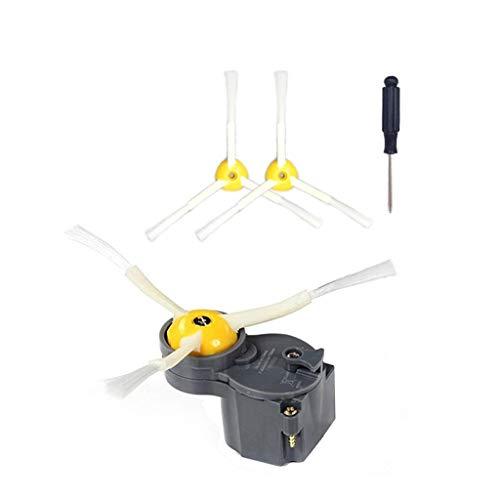 ToDIDAF Staubsauger-Zubehör, Ersatzteile für Kehrroboter, 1 Seitenbürstenmotor + 3 Seitenbürsten + 1 Schraubendreher für Roomba 500/600/700/800 Staubsauger