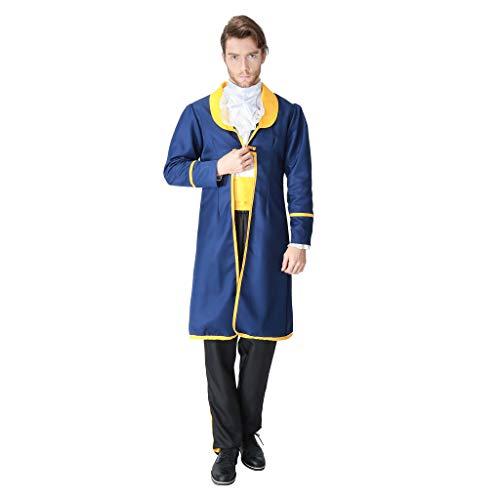 Non brand Baoblaze Uomo Affascinante Costume Principessa Bellezza e La Bestia Outfit Accessories - M