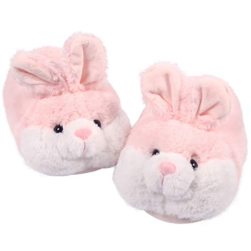 Caramella Bubble Classic Bunny Slippers Warm Plush Fuzzy Slippers Anti-Slip Indoor House Slippers for Women