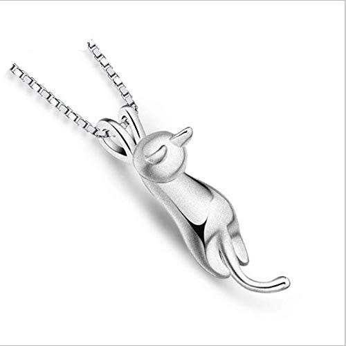Yesiidor Peelings Katze Anhänger Halskette niedlichen Cartoon Tier Schlüsselbein Halskette Mode Halskette für Frauen, glatt (Tier-peelings Für Frauen)