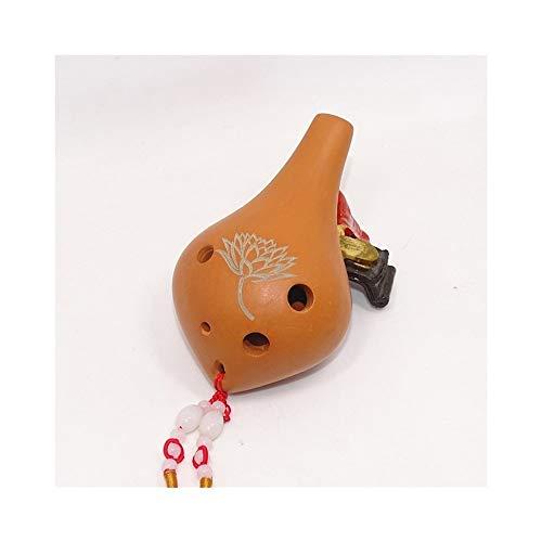 ZYHZP Ocarina, 6-Loch-AC Rot und Schwarz Ocarina, Sechs-Loch-Mid-Ton C, Geschenk Quaste Anhänger, auch for Anfänger geeignet, Studenten, Alto C, Studenten Ocarina ( Color : 2 )