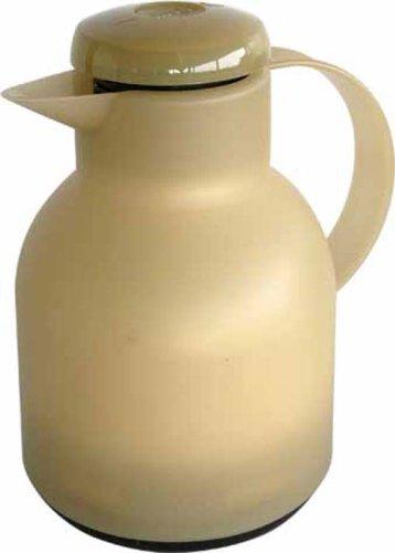 Samba Quick Press (Emsa SAMBA Isolierkanne 504686 latte transluzent 1,0 L Quick Press COFFEE TIME)