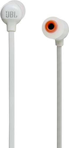 JBL T110BT Pure Bass Wireless in-Ear Headphones with Mic (White)