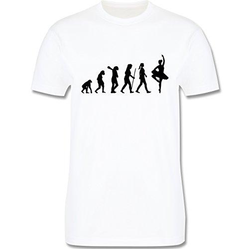 Evolution - Ballett Evolution - Herren Premium T-Shirt Weiß