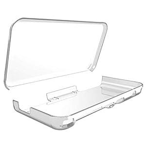 Uzinb Transparente Schutzhülle Anti-scracth Fall für Nintendo 2DS XL LL-Konsole Integrierte Kristall Hard Shell