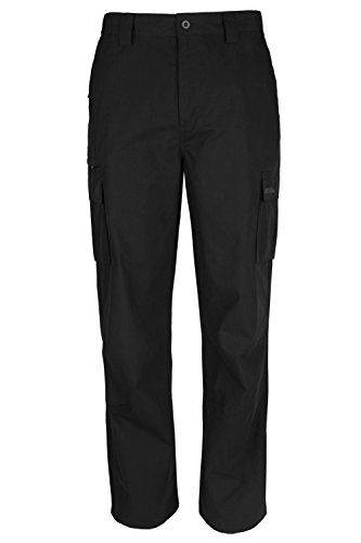 mountain-warehouse-mens-trek-lightweight-fast-drying-hiking-trousers-short-and-regular-length-black-