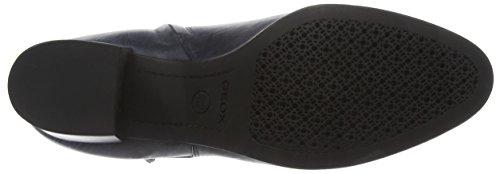 Geox Damen D Petalus C Kurzschaft Stiefel Blau (Navyc4002)
