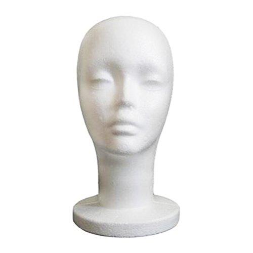 Beaupretty Styroporkopf Weibliche Halter für Perücken Hut Mützen Kopfhörer oder Brille Schaum Kopf Mannequins Weiß