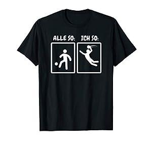 Handball vs. Fußball T-Shirt Alle So Ich So Geschenk Lustig