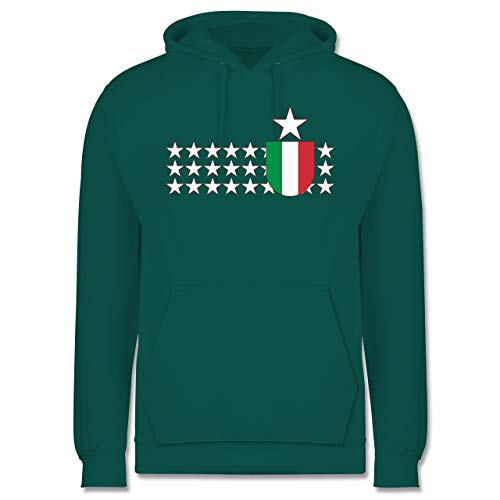 Shirtracer Länder - Italien Stars - 3XL - Türkis - JH001 - Herren Hoodie -
