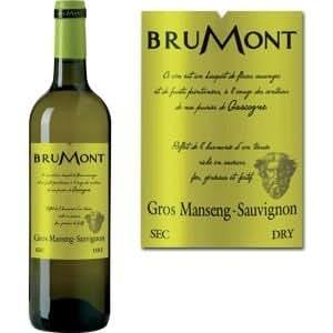 BRUMONT-Gros Manseng Sauvignon 2012 Blanc x1
