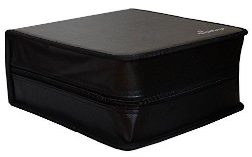 MediaRange Archivierungsmappe (für 400 Discs, Kunstleder) schwarz (Dvd Aufbewahrung Reißverschluss-tasche)
