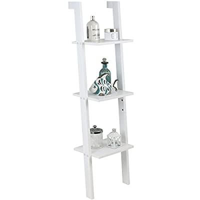 Hartleys White 3 Tier Ladder Shelf - inexpensive UK light shop.