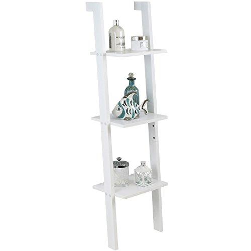 Hartley's Leiterregal mit 3 Böden - weiß