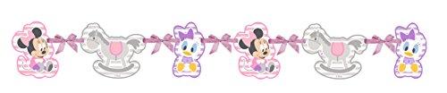 Ciao Procos 85582-Babyjäckchen Silhouette Banner Baby Minnie & Daisy, 110cm, rosa/weiß (Party Duck Daisy Dekorationen)