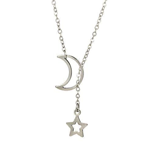 Stern Mond Lange Halskette des einfachen Sterns der Mode einfachen YunYoud edelstein halsschmuck Damen Halskette Herz schmuck kordelkette diamanten markenschmuck gliederketten