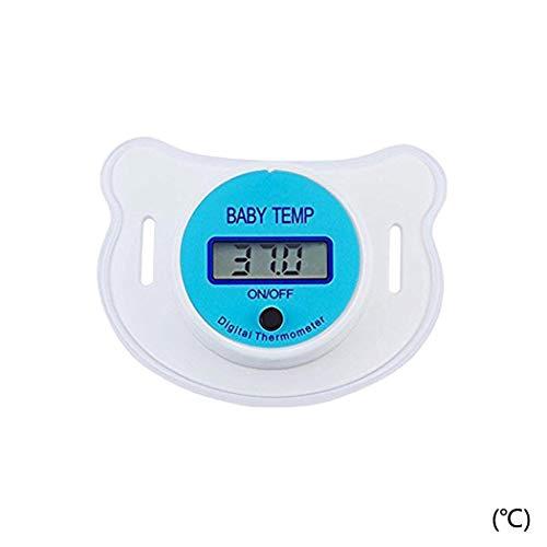Oldhorse Baby Kinder LED Schnuller Thermometer Mund Temperatur Monitor Tool (Blau-Celsius) - Digitale Baby Schnuller-thermometer