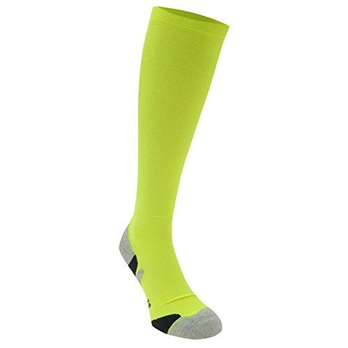 Wolle-mischung-stulpen (Karrimor Herren Kompression Laufsocken Running Jogging Sport Socken Funktionssocken Fluo Gelb Mens 7-11)