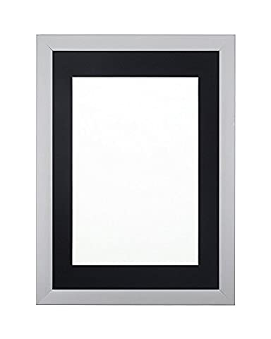 Rainbow Color Range Picture/Photo/Poster frame with Mount- With a High Clarity Styrene Shatterproof Perspex Sheet- Grey Frame with Black Mount- 16