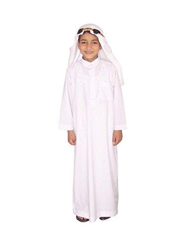 Kinder Saudi Arabische Kostüm - Egypt Bazar Kinder Scheichkostüm Araber Scheich Kostüm Gewand, weiß (110-116 (4 bis 5 Jahre))