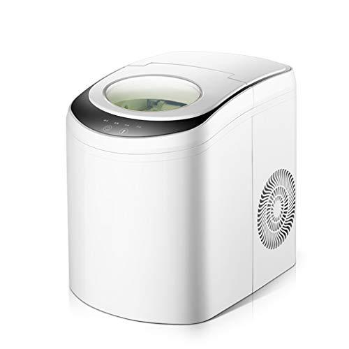 DZWSD Arbeitsplatte Eiswürfelmaschine - Eiswürfelzubereitung für 6 Minuten - 2,2 Liter Wassertank mit großem Fassungsvermögen - Mixgetränk Eismaschine aus Edelstahl mit Eisschaufel und Korb - Magie Arbeitsplatte