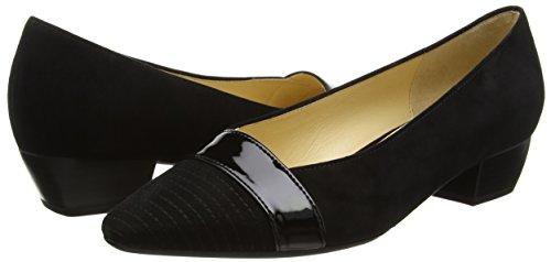 Gabor 45.135 Damen Pumps, Black (Black Suede/Patent HT), 5 UK / 38 EU -