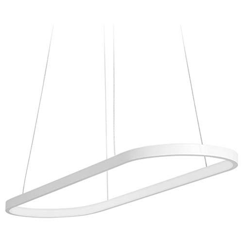 ZYY LED Pendelleuchte Modernes minimalistisches Weiß 1-Ring Hängende Beleuchtung Kreative Persönlichkeit Acryl Aluminium Hoch verstellbar Kronleuchter Wohnzimmer Esszimmer Deckenbeleuchtung Dimmen 41
