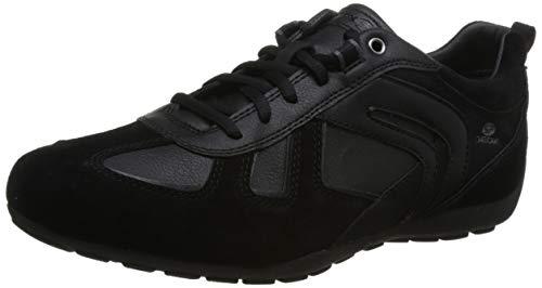 Geox U843FA Uomo Ravex Sportlicher Herren Sneaker, Schnürhalbschuh, Freizeitschuh, Atmungsaktiv schwarz (Black), EU 40