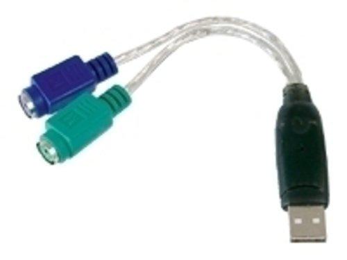 Digitus DA-70118 USB to PS2 Adapter/USB AM to 2x Mini-DIN 6F (2 Stück) -