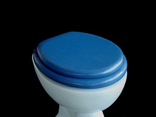 Soft WC Sitz gepolstert Farbe dunkelblau -