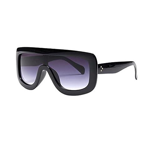 Xiahbong Art Und Weisegroßer Rahmen Quadratische Sonnenbrille UV Schutz Eyewear (C)