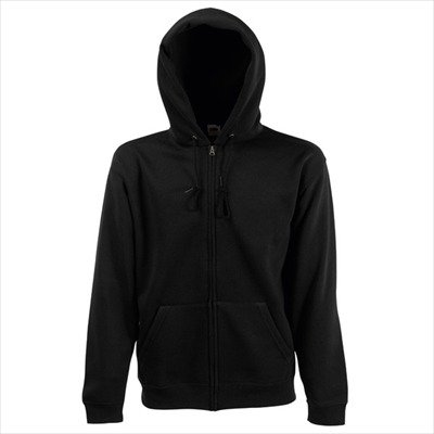 Fruit of the Loom - Kapuzen Sweat-Jacke 'Hooded Zip' XL,Black