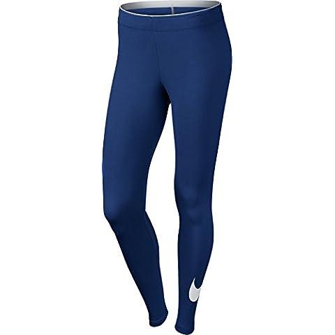 Nike Club Legging Logo 2 - Mallas para mujer, color azul / blanco