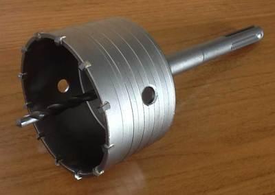 Scie trépan carbure + arbre sds max + foret de centrage existe en diamètre 30 à 150mm 60mm REF 575000xxx