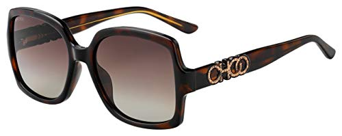 Jimmy Choo Sonnenbrillen Sammi/G/S Dark Havana/Brown Shaded Damenbrillen