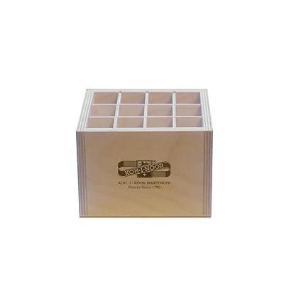 Holzbox QUADRATISCH für Stifte Pinsel Druckbleistifte, etc.. Koh-I-Noor Stiftebox Aufbewahrungsbox Pinselbox Stifteköcher von KOH-I-NOOR bei TapetenShop