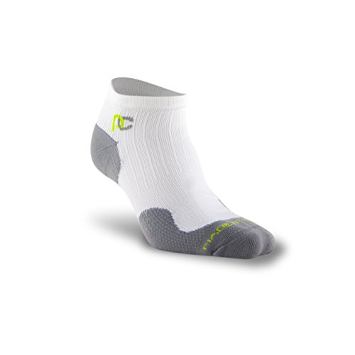 Pro Compression PC Runner Socken, damen Herren, weiß (Compression Socken Gradient)