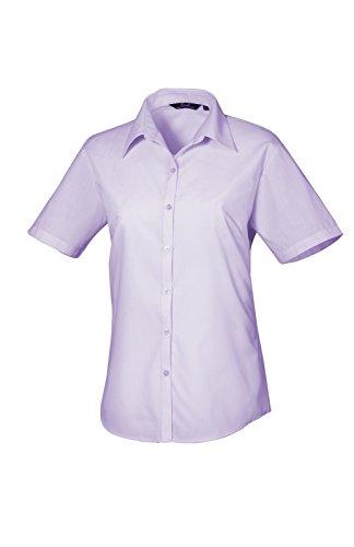 PW302 Ladies Poplin Blouse Short Sleeve (Damenbluse/Kurzarm) Lilac