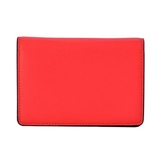 Lackingone Pochette Rouge Femme Pochette en Cuir RFID Blocage Portefeuille Rouge Cuir Femme Portefeuille Carte Crédit
