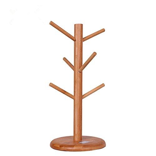 Arbre Forme Tasse mug de café support en bambou support de cuisine Countertop Tasse support