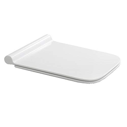 NEG Ersatz-Toilettendeckel (SlimLine) für Hänge-WC Uno19 (Duroplast) mit SoftClose und Quick-Release-Funktion -